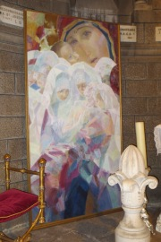 The second painting in the series in the cathedral alcove.