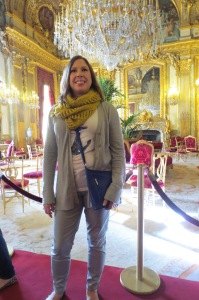 Napoléon III's apartments in the Louvre. Note something other than the Pink Scarf! What can I say, that pink one is warm.